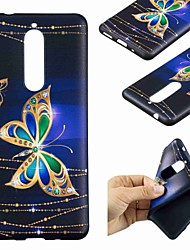 cheap -Case For Nokia Nokia 8 / Nokia 6 / Nokia 5 Pattern Back Cover Butterfly Soft TPU