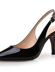 cheap -Women's Patent Leather Spring & Summer Minimalism Heels Stiletto Heel Pointed Toe White / Black / Light Pink