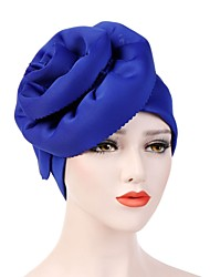 cheap -Women's Vintage Party Holiday Cotton Polyester Floppy Hat-Solid Colored All Seasons Light Green Fuchsia Royal Blue / Fabric