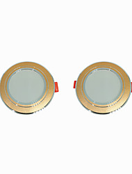 cheap -2pcs 5 W 360 lm 10 LED Beads Easy Install Recessed LED Downlights Warm White Cold White 220-240 V Ceiling Home / Office Living Room / Dining Room / CE Certified