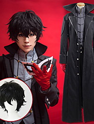cheap -Inspired by Persona 5 Cosplay Anime Cosplay Costumes Japanese Cosplay Suits Solid Colored British Coat Top Pants For Men's Women's / More Accessories / Wig / More Accessories / Wig