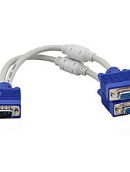 Недорогие -От 1 до 2-х контактный vga svga монитор y кабель разветвителя 15pin мужской женский TFT LCD