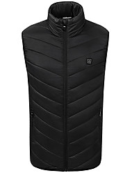 cheap -DZRZVD® Men's Hiking Gilet Winter Outdoor Thermal / Warm Windproof Breathable Wear Resistance Top Full Length Visible Zipper Outdoor Exercise Back Country Mountaineering Black / Dark Blue