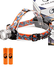 cheap -U'King Headlamps Headlight 2000 lm LED Emitters 3 Mode with Batteries Zoomable Adjustable Focus Compact Size High Power Easy Carrying Multifunction Camping / Hiking / Caving Everyday Use Cycling