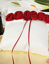 cheap -Silk Like Satin Satin Flower Satin Ring Pillow Wedding All Seasons