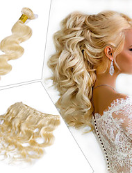 abordables -1 Bundle Cheveux Brésiliens Ondulation naturelle Cheveux Naturel Rémy Extensions Naturelles 10-26 pouce Tissages de cheveux humains Doux Meilleure qualité Nouvelle arrivee Extensions de cheveux
