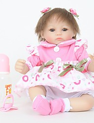 cheap -FeelWind Reborn Doll Girl Doll Baby Girl 18 inch Silicone Vinyl - lifelike Handmade Cute Child Safe Kids / Teen Non Toxic Kid's Unisex Toy Gift