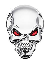 cheap -3D Demon Skull Metal Stickers Bone Emblem Badge Decals for Car Motor Truck