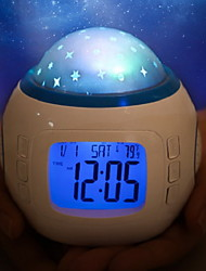 cheap -LED Starry Projector Light with Alarm Clock Staycation White Creative Decorative Suitable for Bedroom <5 V