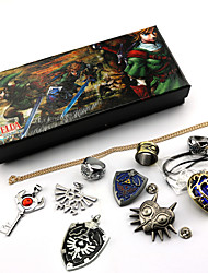 cheap -Jewelry Inspired by The Legend of Zelda Cosplay Anime / Video Games Cosplay Accessories Necklace / Brooch Artificial Gemstones / Alloy Men's / Women's 855