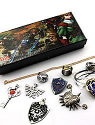 abordables -Bijoux Inspiré par The Legend of Zelda Cosplay Manga / Jeux Vidéo Accessoires de Cosplay Colliers décoratif / Broche Gemmes artificielles / Alliage Homme / Femme Déguisement d'Halloween