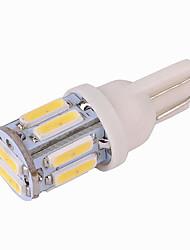 cheap -T10 W5W 7020 10SMD Car White LED Turn Door Brake Side Maker Light Bulb