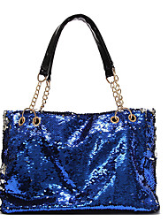 cheap -Women's Glitter PU Tote Black / Gold / Fuchsia