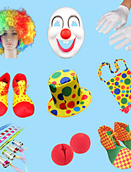 cheap -Cotton Mask Halloween Mask Inspired by Burlesque Clown Clown Rainbow Funny & Reluctant Halloween Christmas Halloween Carnival Adults' Men's Women's / Gloves / Shoes / Bags and Purses / Hat / Wig
