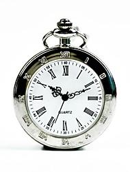 cheap -Men's Pocket Watch Quartz Silver Casual Watch Cool Analog Casual Fashion - Silver