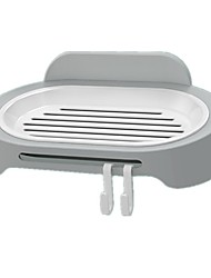 cheap -Soap Dishes / Bathroom Sticker / Hooks Waterproof / Self-adhesive / Storage Boutique / Basic / Fashion ABS 1 set Toilet Accessories / Bath Organization / Bathroom Decoration