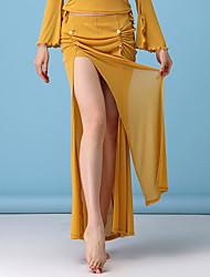 cheap -Belly Dance Bottoms Women's Performance Spandex / Chinlon Split / Ruching Dropped Skirts