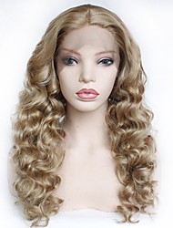 cheap -Synthetic Lace Front Wig Curly Middle Part Lace Front Wig Blonde Long Strawberry Blonde Synthetic Hair 22-26 inch Women's Soft Heat Resistant Women Blonde / Ombre Hair