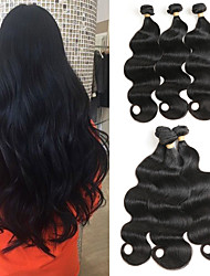 cheap -3 Bundles Brazilian Hair Body Wave Remy Human Hair Human Hair Extensions 8-22 inch Human Hair Weaves Soft Best Quality New Arrival Human Hair Extensions