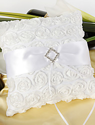cheap -Silk Like Satin Acrylic Diamond / Satin Flower Satin Ring Pillow Wedding All Seasons