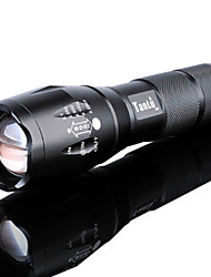 cheap -LED Flashlights / Torch Waterproof Zoomable 3000 lm LED LED Emitters 5 Mode with Battery and Charger Waterproof Zoomable Rechargeable Adjustable Focus Super Light High Power Camping / Hiking / Caving