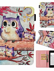 cheap -Case For Amazon Kindle PaperWhite 4 Card Holder / Shockproof / Pattern Full Body Cases Owl Hard PU Leather