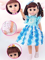 cheap -Girl Doll Fashion Doll Ball-joined Doll / BJD Baby Girl 18 inch Silicone - Smart lifelike Kids / Teen Kid's Unisex Toy Gift