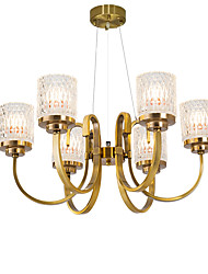 cheap -QIHengZhaoMing 6-Light 72 cm Chandelier Crystal Glass Electroplated Traditional / Classic 110-120V / 220-240V