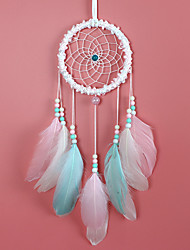 cheap -Boho Dream Catcher Handmade Gift Wall Hanging Decor Art Ornament Craft Feather Bead 55*11cm for Kids Bedroom Wedding Festival
