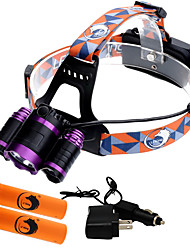 cheap -U'King ZQ-X809 Headlamps Headlight Rechargeable 4000 lm LED LED 3 Emitters 4 Mode with Batteries and Chargers Zoomable Rechargeable Adjustable Focus Dimmable Compact Size High Power Camping / Hiking