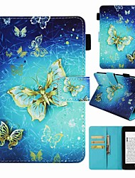 cheap -Case For Amazon Kindle PaperWhite 4 Card Holder / Shockproof / Pattern Full Body Cases Butterfly / Eiffel Tower / Dream Catcher Hard PU Leather