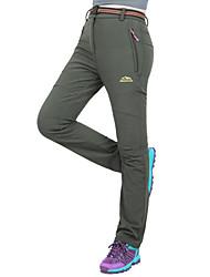cheap -Women's Hiking Pants Softshell Pants Outdoor Waterproof Windproof Fleece Lining Rain Waterproof Velvet Softshell Pants / Trousers Skiing Ski / Snowboard Hiking Black Dark Grey Army Green M L XL XXL