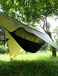 cheap -Camping Hammock with Pop Up Mosquito Net Outdoor Lightweight Quick Dry Breathability Parachute Nylon for 1 person Fishing Camping Camo / Camouflage - Army Green / Anti-Mosquito / Anti-Mosquito