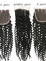 cheap -1 Bundle Brazilian Hair Kinky Curly 100% Remy Hair Weave Bundles Natural Color Hair Weaves / Hair Bulk Human Hair Extensions 8-20inch Natural Color Human Hair Weaves Newborn Waterfall Cute Human Hair
