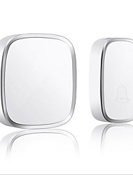 cheap -Pretty White Doorbell Wireless One to One Doorbell Music Ding dong Non-visual Doorbell Embedded ABS+PC