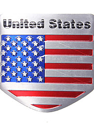 cheap -USA Flag Metal Auto Refitting Car Badge Emblem Decal Sticker