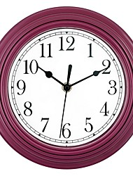 cheap -Modern Style / European Plastic & Metal Round Indoor AA Batteries Powered Decoration Wall Clock Mirror Polished No