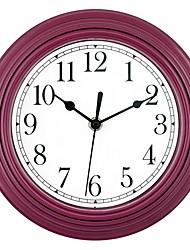 Недорогие -Современный / европейский Пластиковые & Металл Круглый В помещении Аккумуляторы AA Украшение Настенные часы Зеркальное Нет