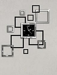 cheap -Modern Style Plastic & Metal Irregular Indoor AA Batteries Powered Decoration Wall Clock Mirror Polished No