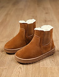 cheap -Boys' Comfort / Snow Boots Suede Boots Little Kids(4-7ys) / Big Kids(7years +) Black / Brown / Gray Winter / Booties / Ankle Boots