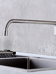 cheap -Kitchen faucet - Single Handle One Hole Brushed Steel Standard Spout Other Ordinary Kitchen Taps
