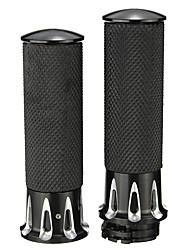 cheap -Pair 1inch 25mm Motorcycle Handlebar Hand Grips For Harley Touring FLHT FLHR Black
