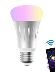 cheap -Wifi Smart Led Light bulbWork With Alexa Google Home Smart Home Automation Dimmable Warm White E27 light bulb 7W(60W Equivalent) A19 RGBW Color Changing Light Remote Control