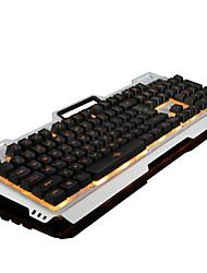 Недорогие -LITBest Bloody USB Проводной Механическая клавиатура Игровые клавиатуры Игры Светящийся Мульти цвет подсветки 104 pcs Ключи