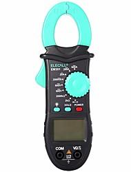 Недорогие -elecall em201 2000 отсчет переменного / постоянного напряжения переменного тока цифровой зажим метр с сопротивлением 28 мм челюсти светодиодный дисплей