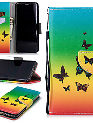 cheap -Case For Samsung Galaxy S9 Wallet / Card Holder / Shockproof Full Body Cases Butterfly Hard PU Leather