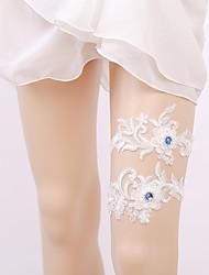 cheap -Lace Bridal Wedding Garter With Crystals / Rhinestones Garters Wedding / Party