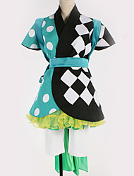 cheap -Inspired by Cosplay Cosplay Anime Cosplay Costumes Japanese Cosplay Suits Geometric Pattern Skirt Dress Belt For Men's Women's / More Accessories / More Accessories