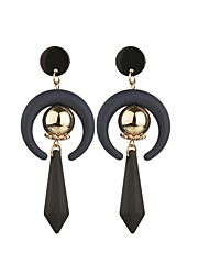 cheap -Women's Drop Earrings Pear Cut Ball Spike Basic Resin Gold Plated Earrings Jewelry Black For Causal 1 Pair