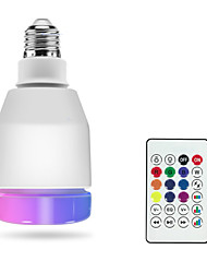 cheap -1pc RGBW Led Smart Bulbs E27 LED Lamp Remote Control Bluetooth 4.0 Speaker Music Colorful Dimmable Led Light AC100-240V